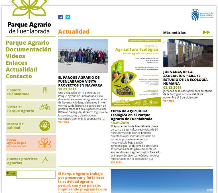 Web Parque Agrario de Fuenlabrada