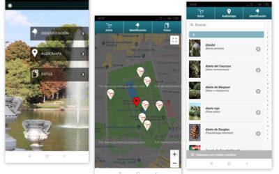 Aplicación móvil de los árboles del Parque del Retiro