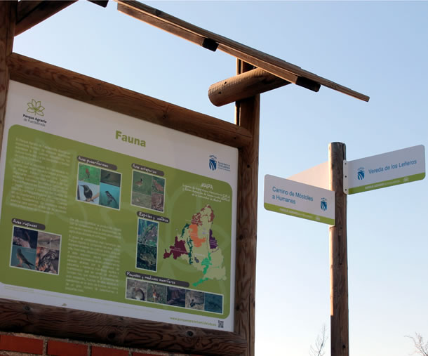 Señalización Parque Agrario de Fuenlabrada