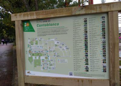 Señalización ruta botánica Universidad Autonoma de Madrid BioatlasApp Grupo Heliconia