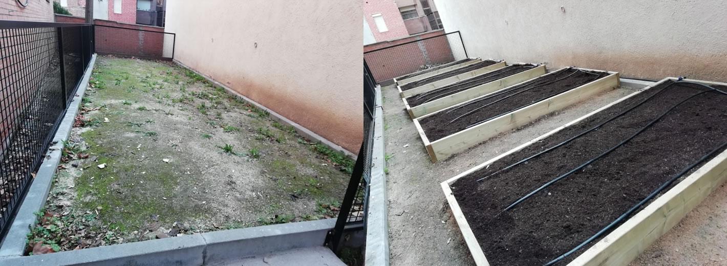 Instalación y mantenimiento huertos en colegios